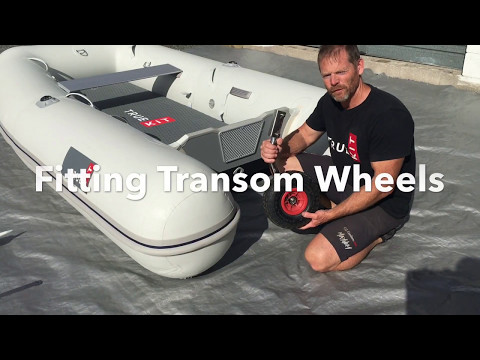 How to fit Transom Wheels to your inflatable tender