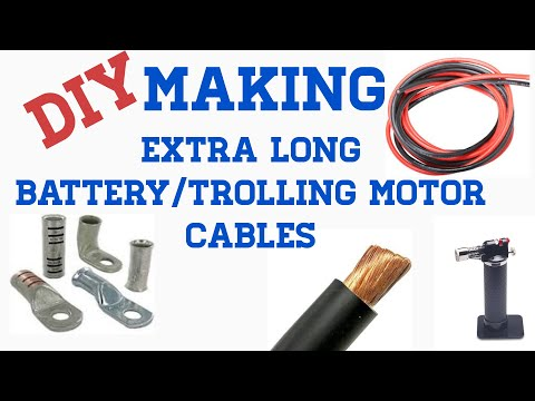 DIY Making extra long battery/trolling motor cables