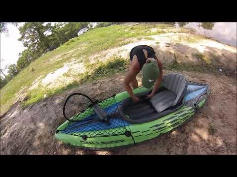 Intex Challenger K1 Kayak Set Up