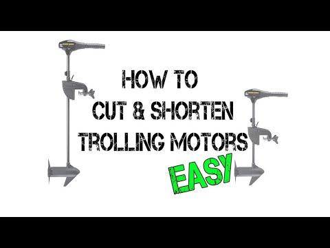 How To Shorten A Trolling Motor Shaft (EASY METHOD)!!!