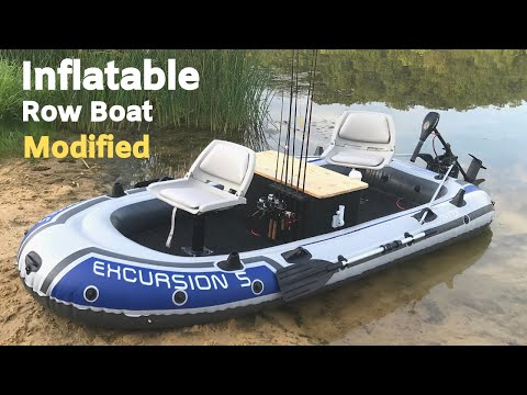Inflatable Row Boat Modified into a Legit Fishing Boat?! How to Make It