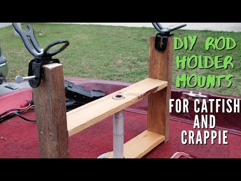 DIY Rod Holder Mounts for Bass Boat - Crappie and Catfishing Rod Holders