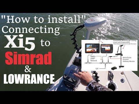 How to Install and connect the Motor Guide Xi5 trolling motor to Simrad or Lowrance chart plotter!!!
