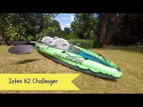 Intex K2 challenger inflatable kayak | setting up an inflatable kayak | inflating a Kayak