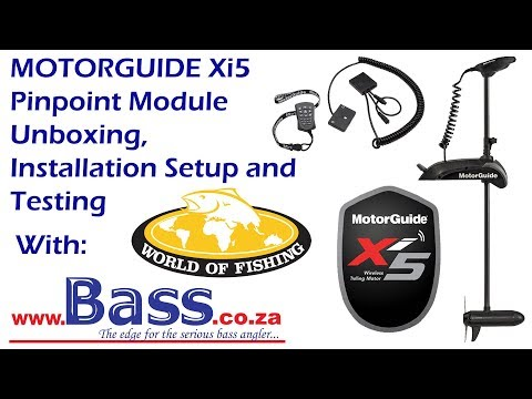 Motorguide Xi5 Unboxing, Pinpoint Module Installation and Testing