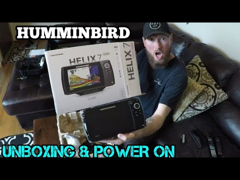 Humminbird Helix 7 Chirp GPS G3N UNBOXING and STARTUP Guide