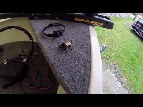 How to Install a Transducer on Trolling Motor - Aluminum Boat Project #11