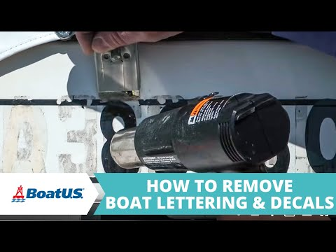 How To Remove Boat Lettering & Decals | BoatUS