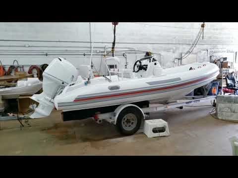 How to install a bimini top bracket and D-rings on inflatable boat