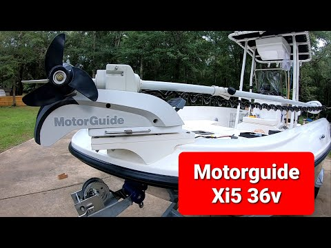 Installing/mounting a Motorguide Xi5 36V Trolling Motor.