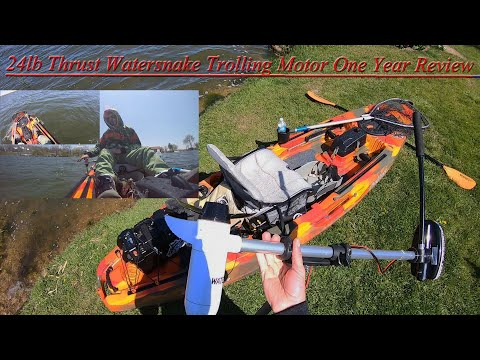My Watersnake Trolling Motor, Lightweight and Quite Fast.