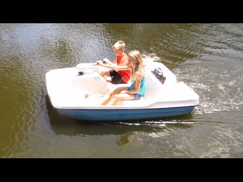 How to put a trolling motor on a paddle boat