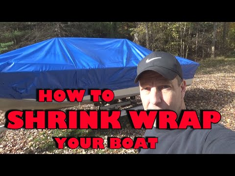 Shrink Wrapping a Boat DIY