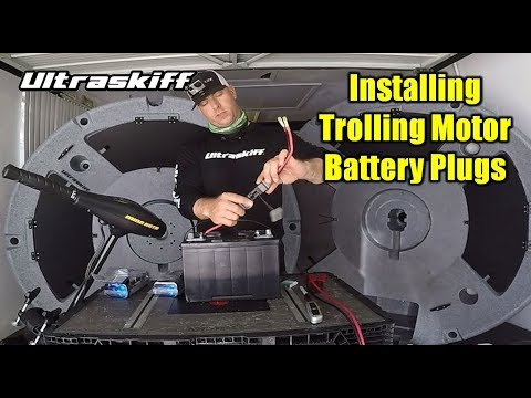 How to Install Trolling Motor and Battery Plugs | Ultraskiff 360 Watercraft | Round Boat