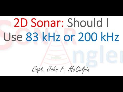 SonarAngler 83 kHz vs 200 kHz 2D Sonar settings
