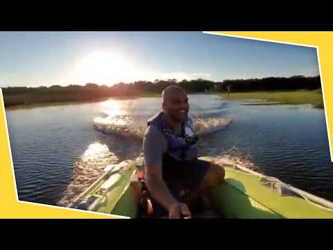 How to launch inflatable boat with and without transom wheels