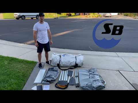 Inflatable Sport Boat Shark 9.8' and accessories overview