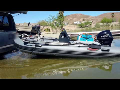 Inflatable Boat Modification - Trailerless Transport and Launching