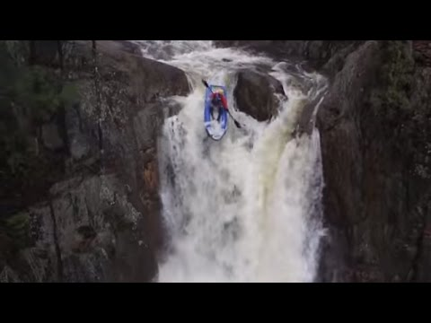 First Descent of Smalls Falls (Rangely, Maine) in an Inflatable Kayak