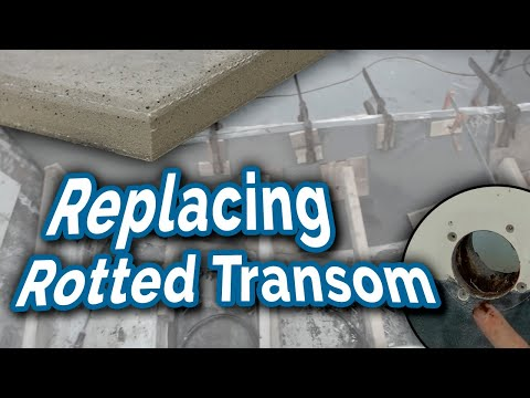 Replacing a Rotted Transom with Coosa Board - Boat Restoration