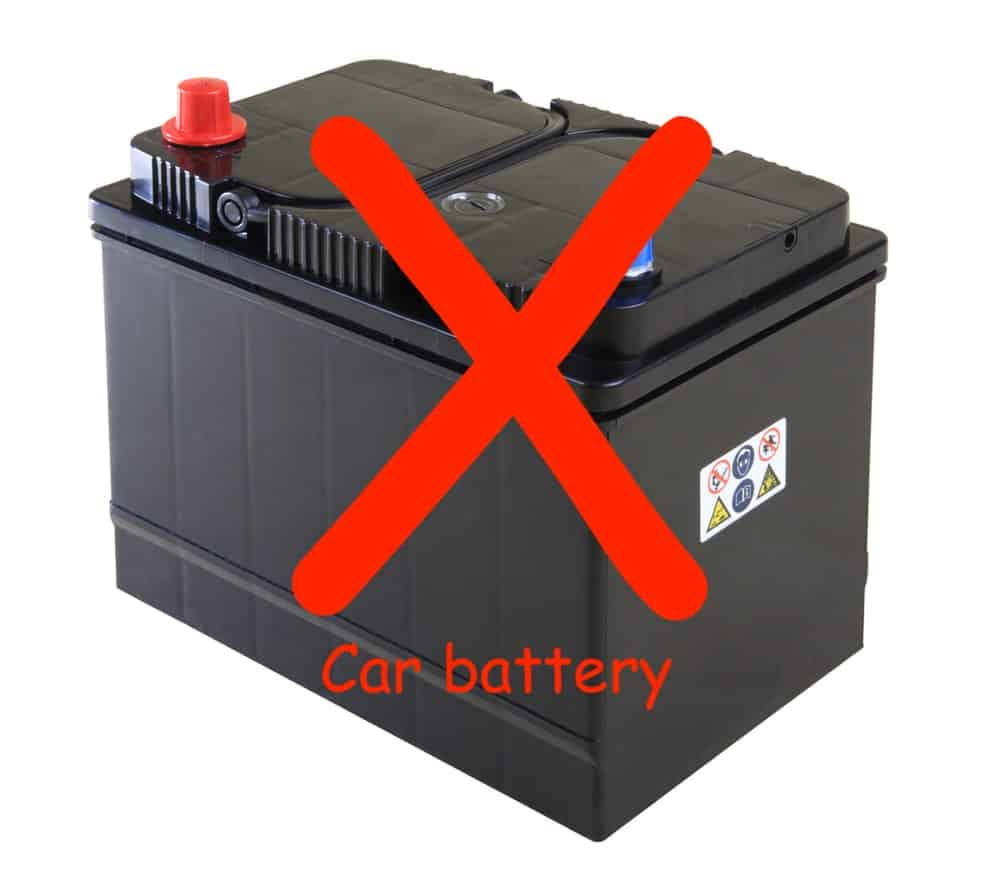 no car battery for inflatable boats