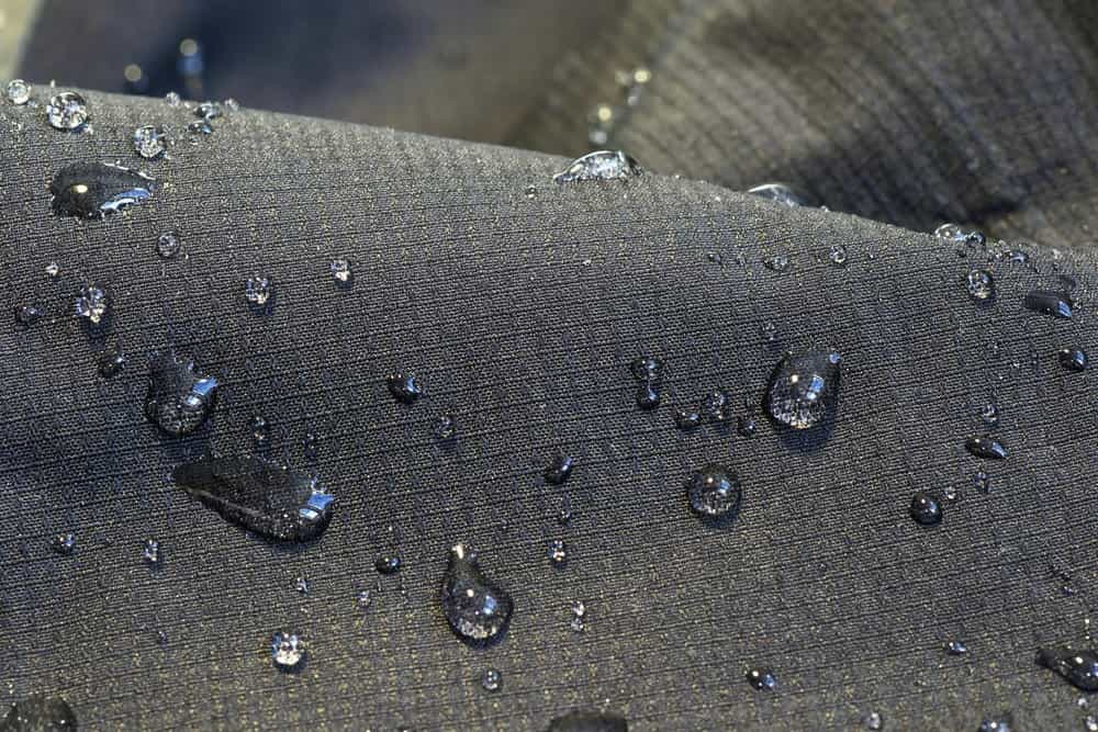 Detail of fabric water repellent