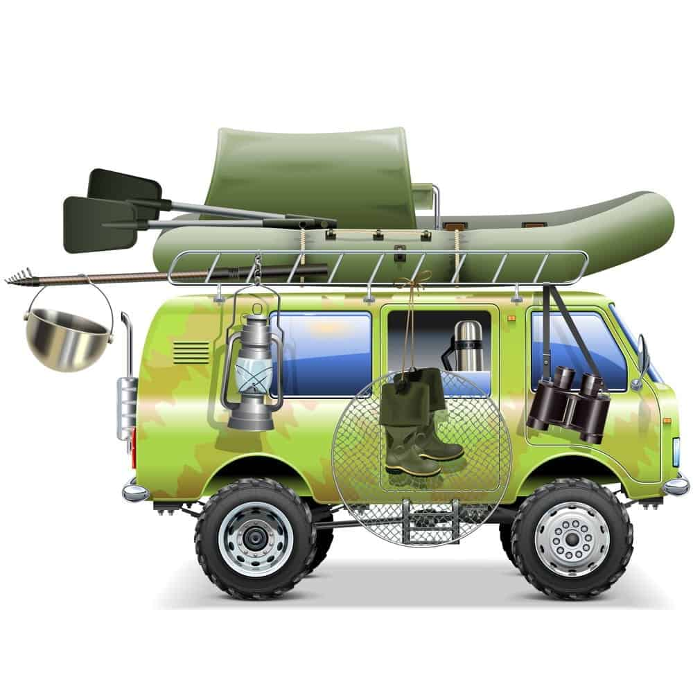 Travel Car with Fishing Accessories