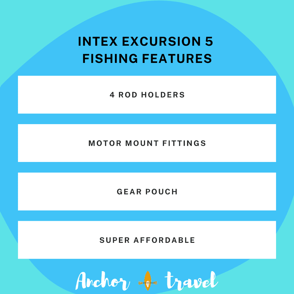Intex Excursion 5 fishing features