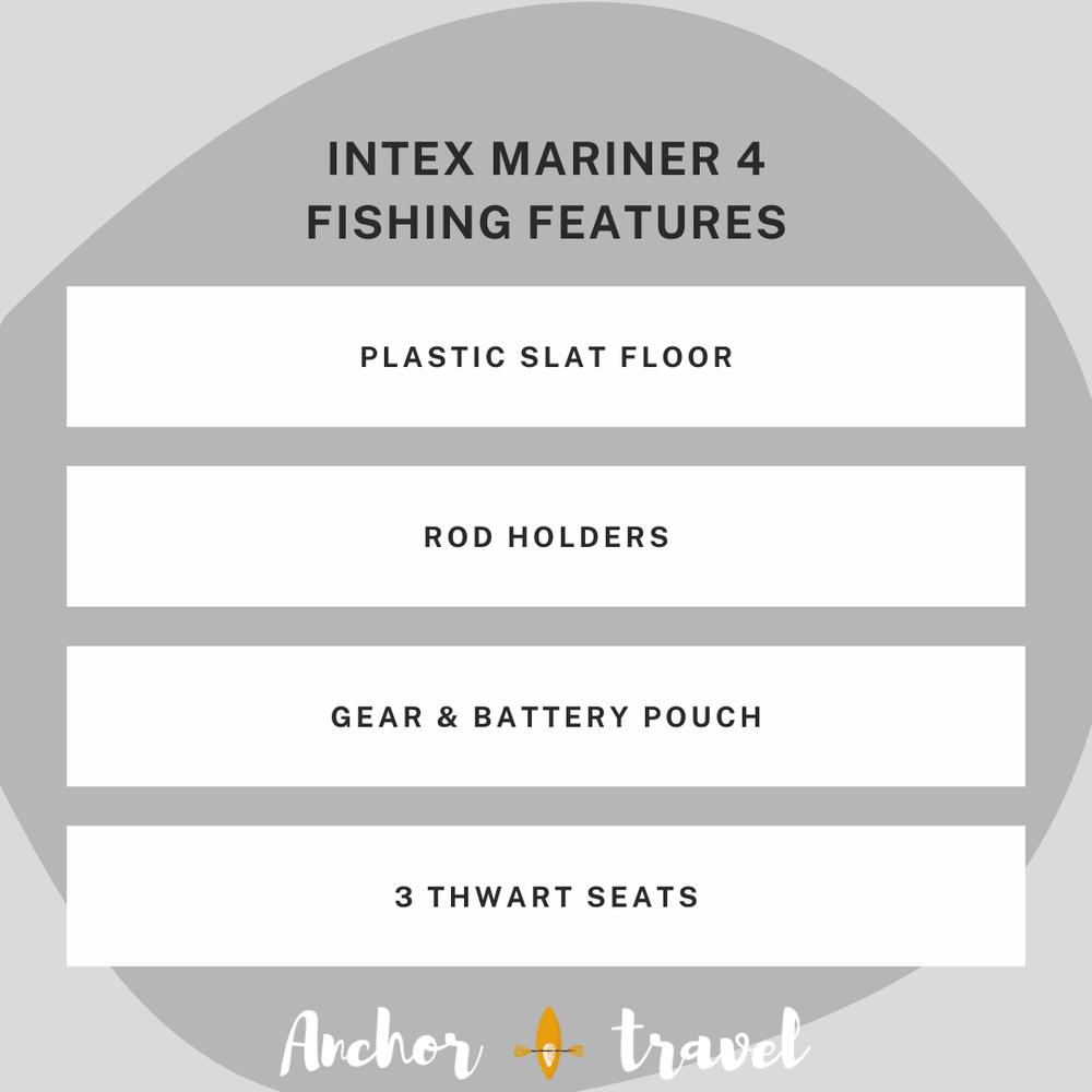 Intex Mariner 4 fishing features