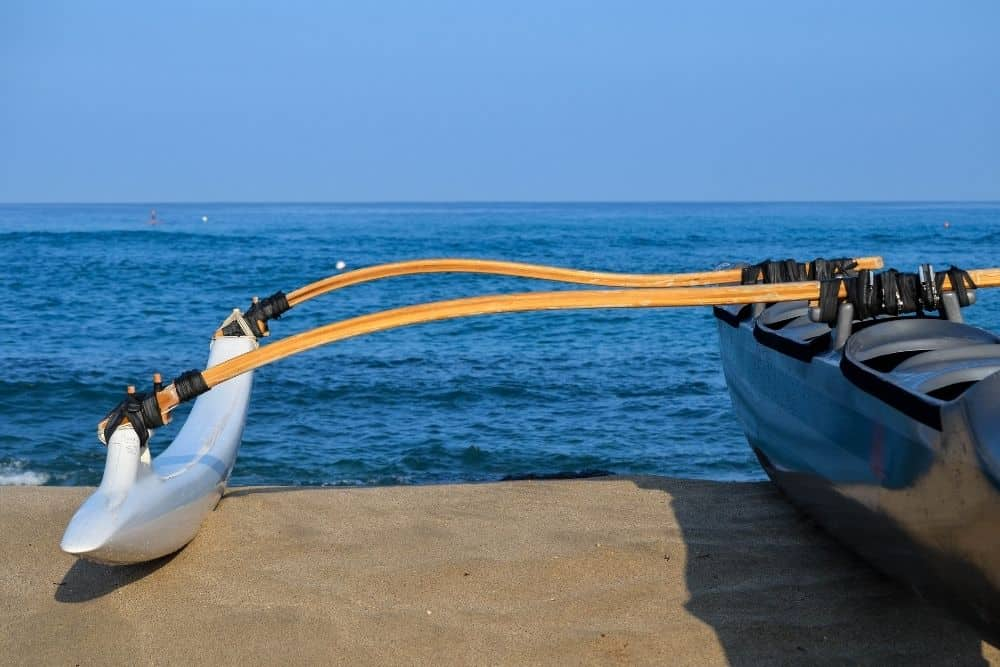 kayak with an outrigger