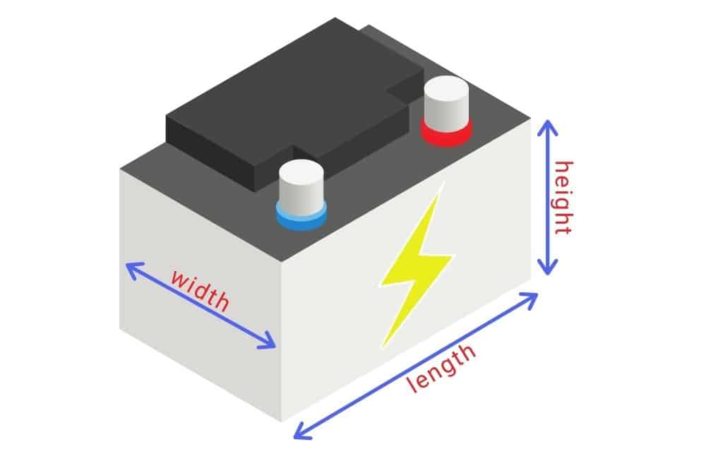 the dimensions of a marine battery