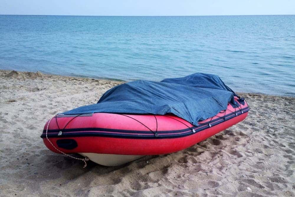 Store the inflatable boat