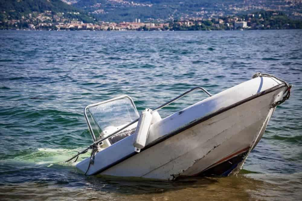 a boat damaged by water