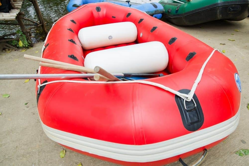 a ready inflatable boat
