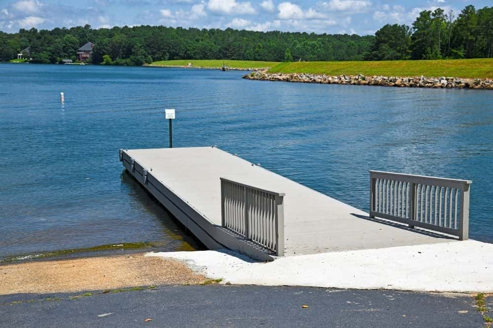 boat ramp to launch inflatable boats