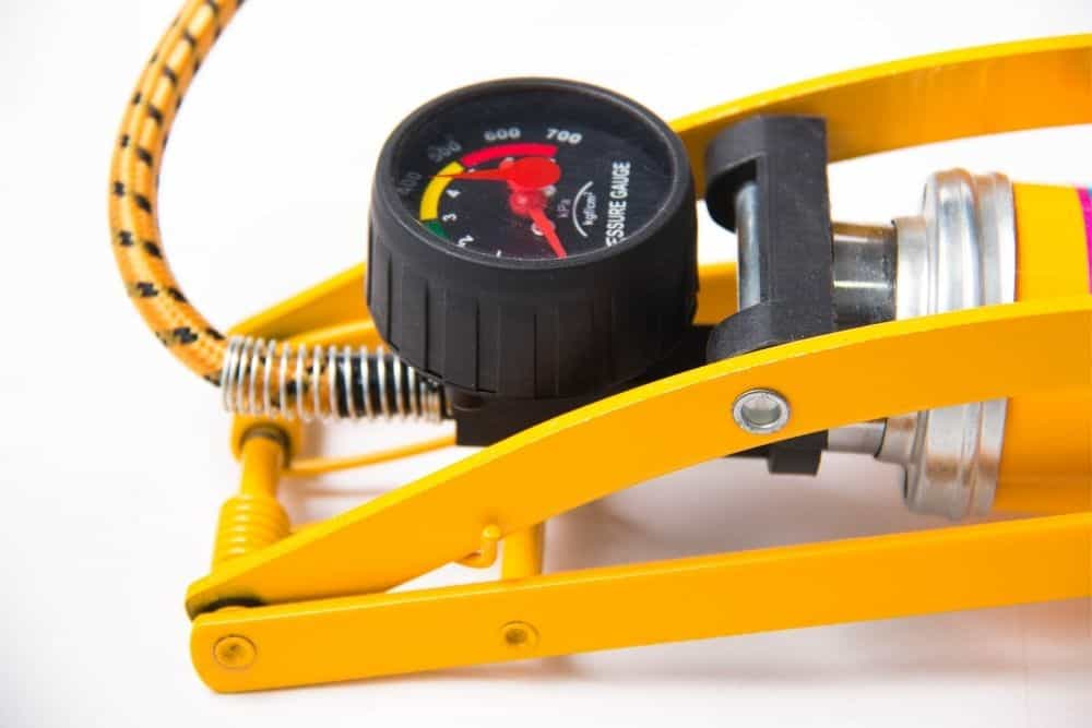 yellow electric air pump for inflatable boats