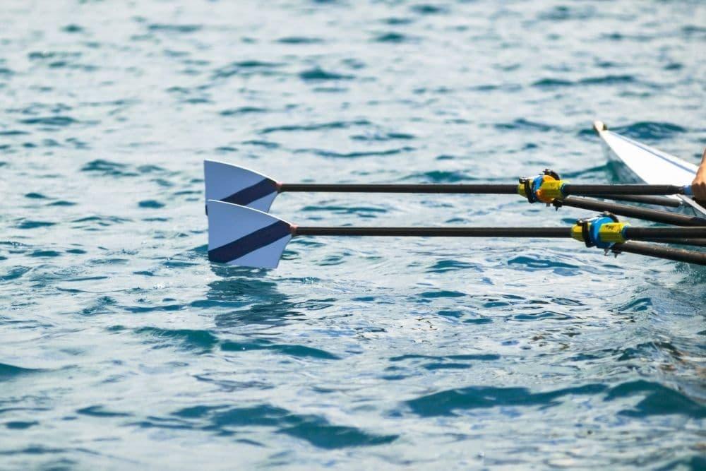 A Set of Oars in pontoon