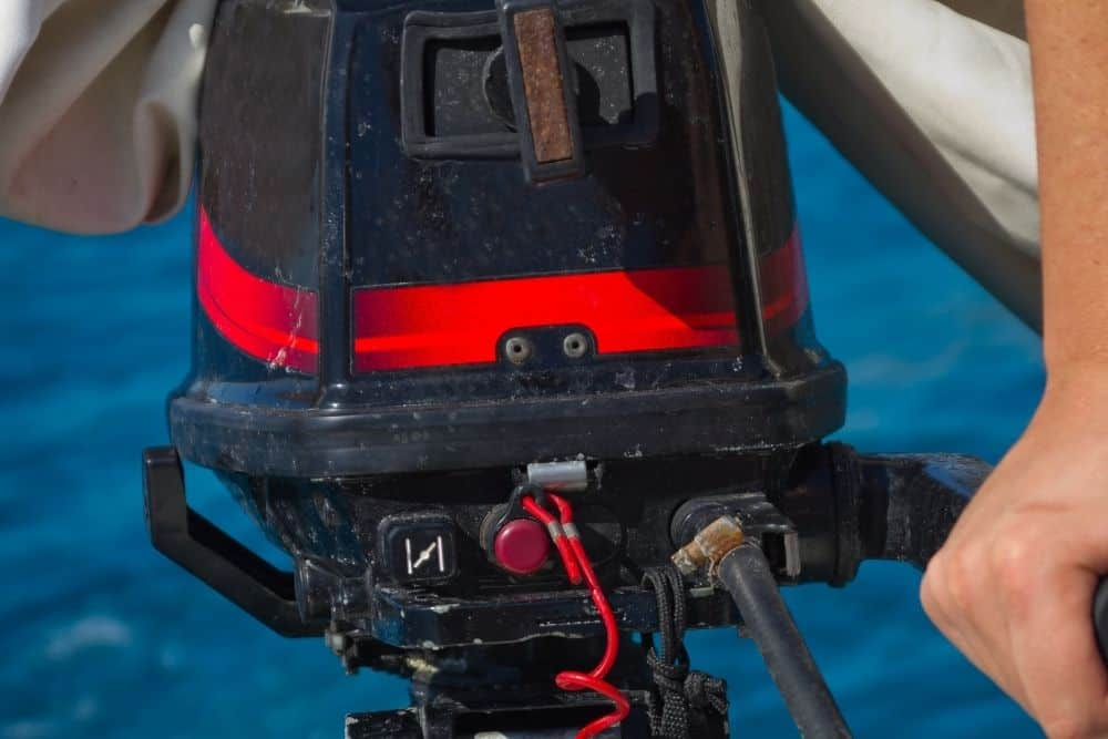 A used outboard motor