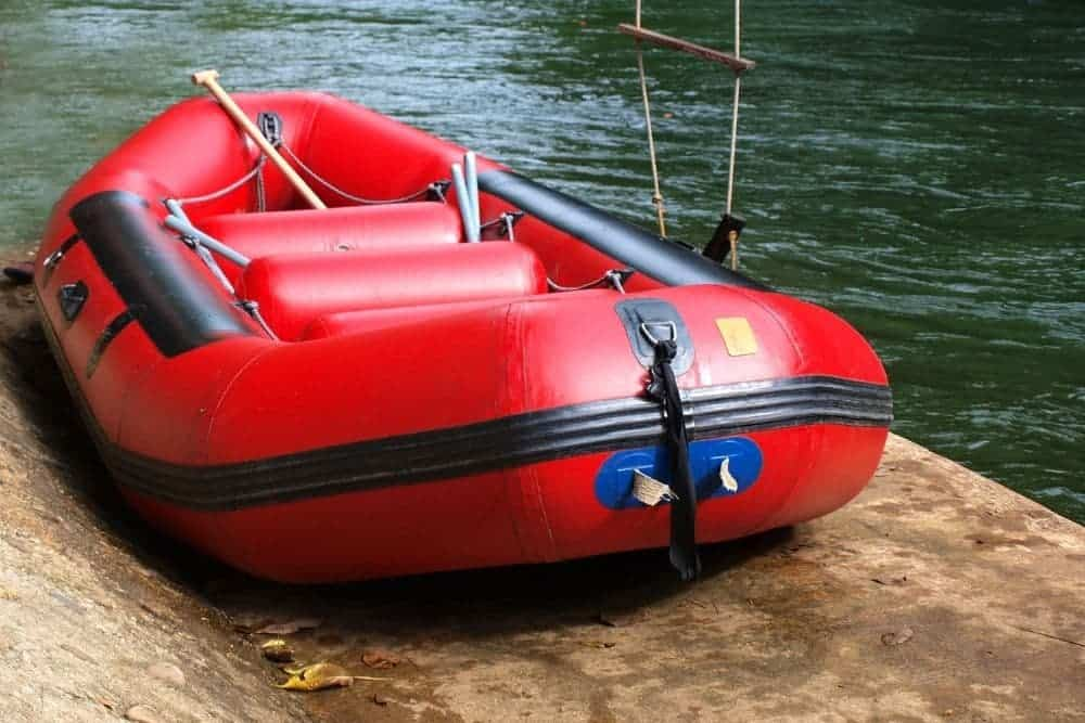 Air Floor Inflatable Boat On Water