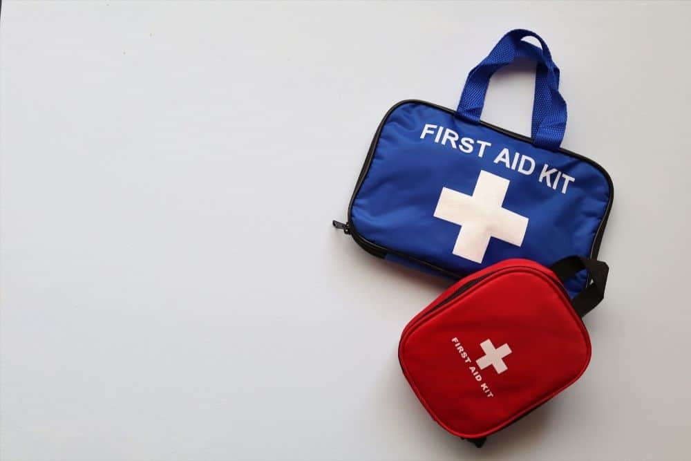 First aid kit on boat