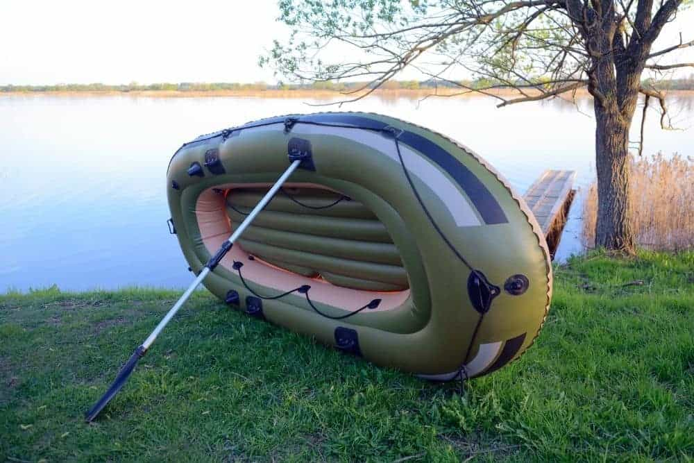 Inflated inflatable boat