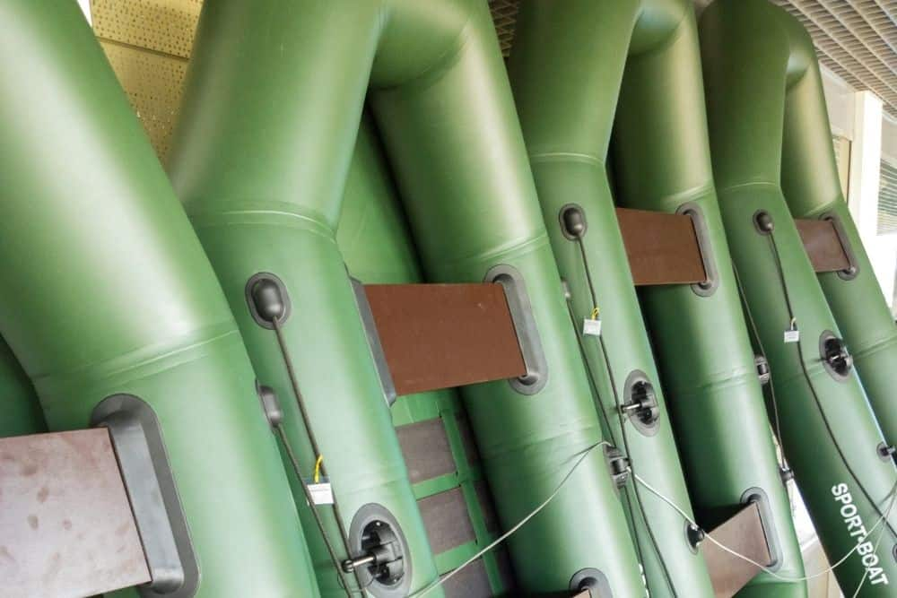 Storing the inflatable boats