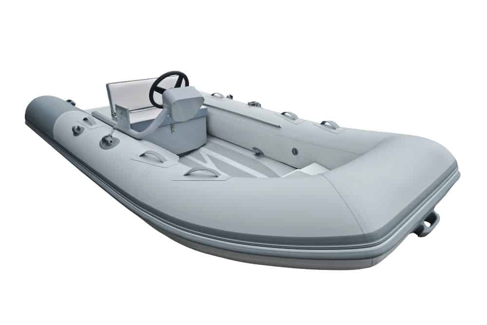 a white inflatable boat RIB