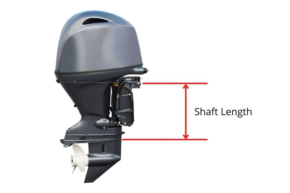 how to measure the outboard motor shaft length