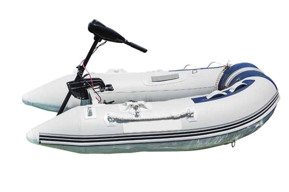 the old Inflatable boat