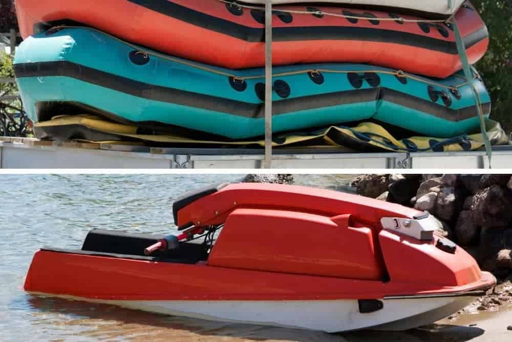 Convenience of inflatable boats vs jet skis