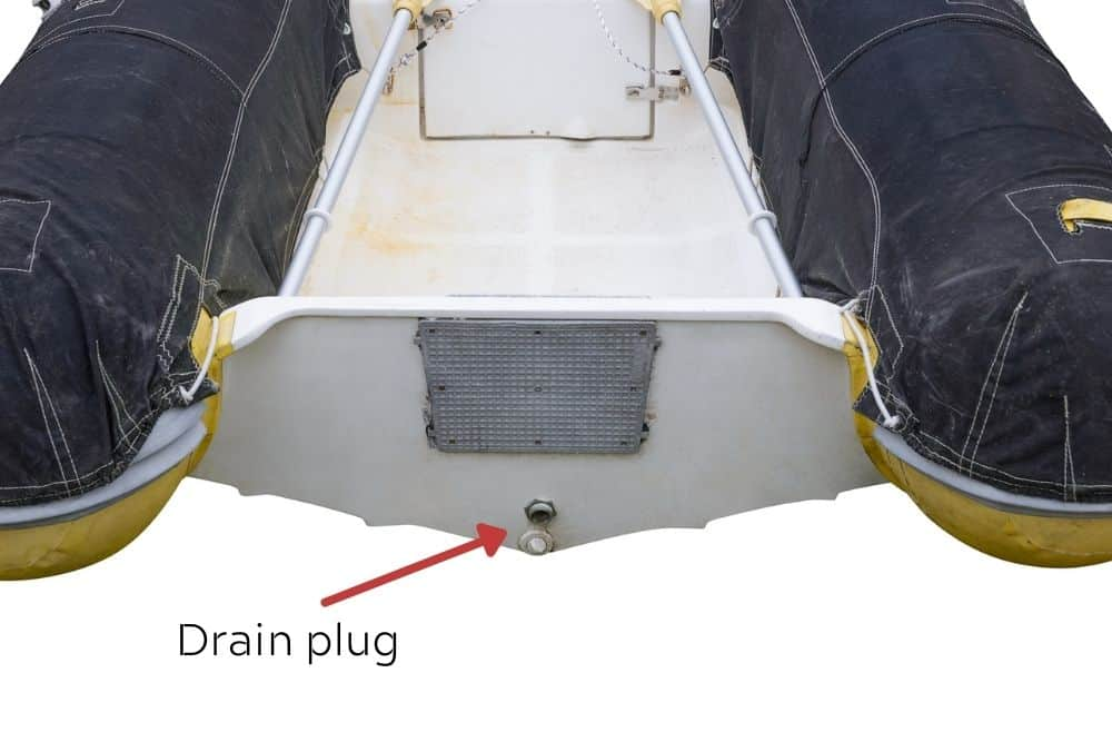 Drain plug of inflatable boat