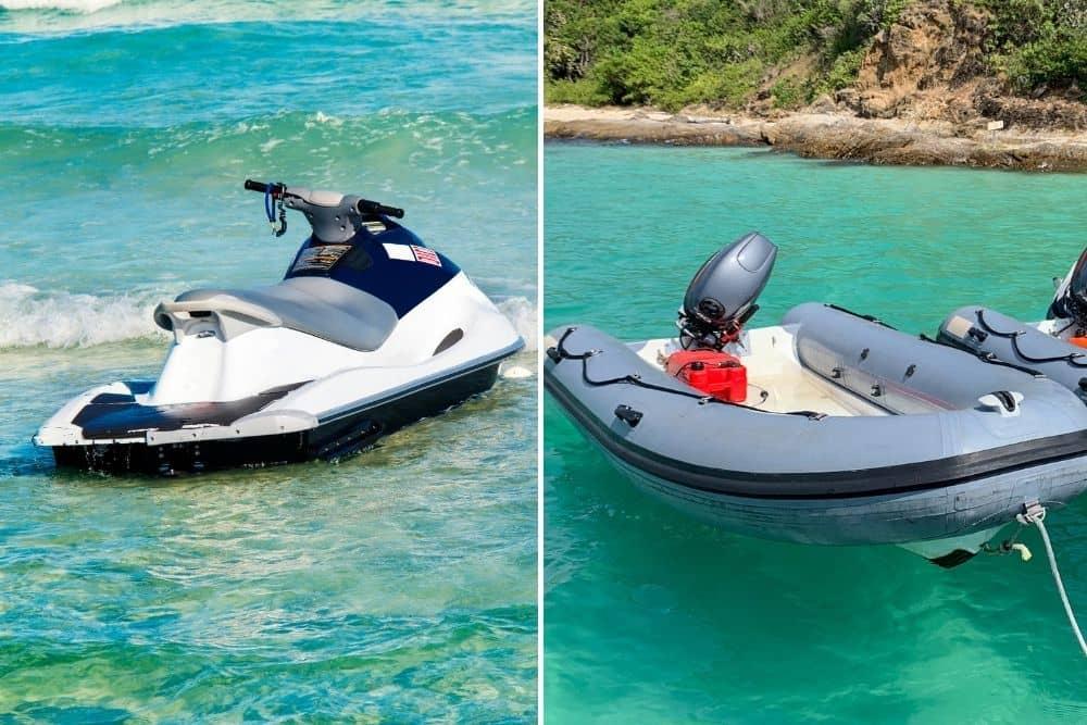 Jet Ski Vs. Inflatable Boat