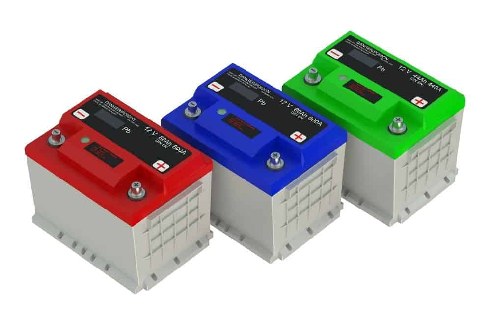 Where to place the three-battery system