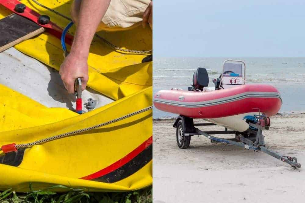 deflate SIB boat vs use a boat trailer to store RIB boat